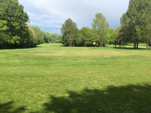 A garden outside Ellesmere Port Golf Club