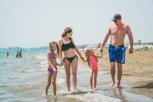 A family staying at Belek Soho Beach Club