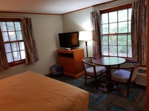 A television and/or entertainment center at Franconia Notch Motel