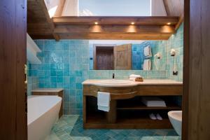 Een badkamer bij Hotel Cortina