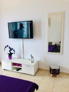 A television and/or entertainment center at Apartments Marija Magdalena
