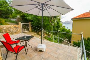 A balcony or terrace at Apartments Ines