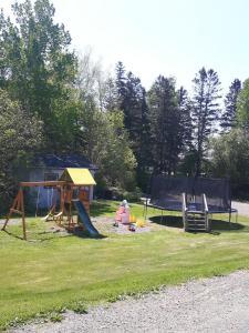 Children's play area at Fair Isle Motel