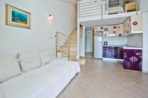 A kitchen or kitchenette at Apartments Lavanda