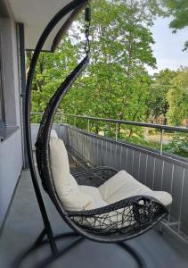 A balcony or terrace at OLIV apartments on Vilnius avenue