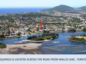 A bird's-eye view of Aquarius 9 - Opposite Wallis Lake