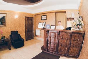 Лобби или стойка регистрации в Отель 1001 Ночь