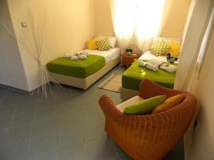 Χώρος καθιστικού στο Filippos Resort II by Karidi