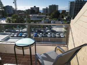 A balcony or terrace at Forster Towers 54 with Lake and Ocean Views