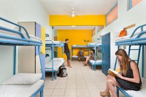 A bunk bed or bunk beds in a room at Abraham Hostel Jerusalem
