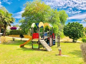 Children's play area at Bungalows Papalus
