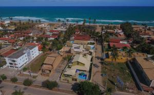 A bird's-eye view of Casa confortável de praia