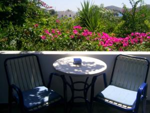 A balcony or terrace at Galini Pension