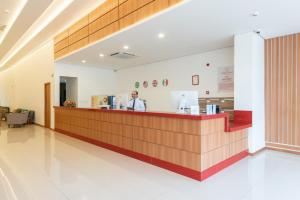 The lobby or reception area at Hotel Santos Dumont SLZ