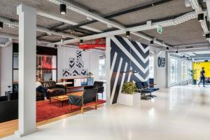 The lobby or reception area at The Student Hotel The Hague