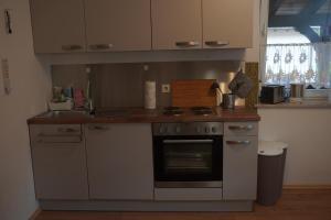 A kitchen or kitchenette at Pension - Gästehaus Zum Pfälzerwald