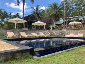 The swimming pool at or near La Royale