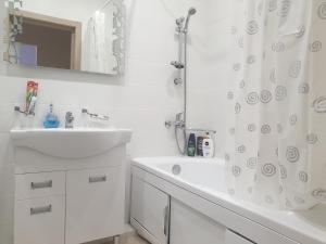 Ванная комната в Apartment in Zelenogradsk