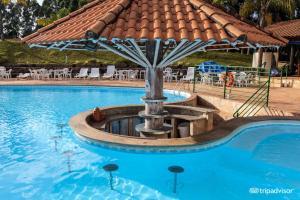 A piscina localizada em Hotel Fazenda Poços de Caldas ou nos arredores
