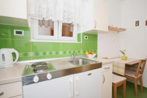 A kitchen or kitchenette at Apartment Zvone