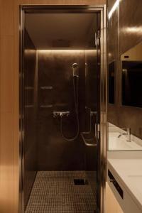 A bathroom at hotel min.