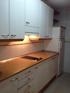 Una cocina o zona de cocina en Apartamentos Turisticos Puerta de León