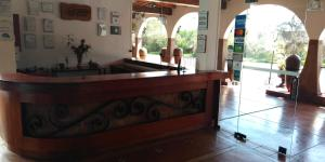 The lobby or reception area at Casa Hacienda Nasca Oasis