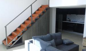 A seating area at Apartments Globus