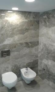 A bathroom at Apartments Globus
