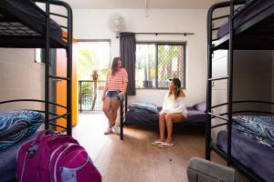 Våningssäng eller våningssängar i ett rum på Cape Byron Hostel YHA