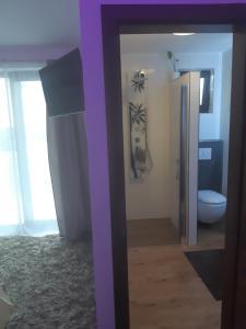 Koupelna v ubytování Apartment Pharamis