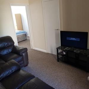 A television and/or entertainment center at The VIP's