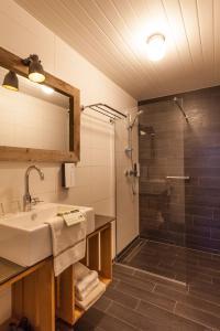 Een badkamer bij Strandhotel Westduin