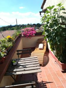 A balcony or terrace at Il Giglio B&B