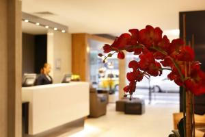 The lobby or reception area at Copa Sul Hotel