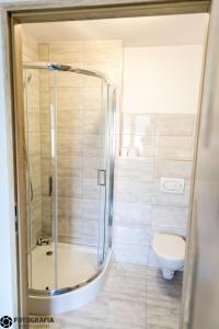 Ванная комната в Hostel Barbórka