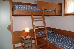 A bunk bed or bunk beds in a room at Bungalow Los Nidos classic