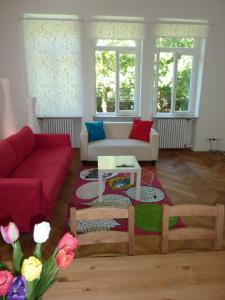 Ein Sitzbereich in der Unterkunft Apartment Villa Elisa