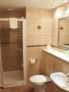A bathroom at Tayside Hotel