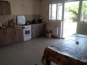 """A kitchen or kitchenette at Гостевой дом """"Три Моря"""""""
