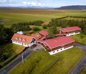 A bird's-eye view of Fosshotel Hekla