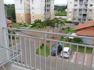 A balcony or terrace at excelente apto totalmente mobiliado