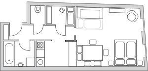 The floor plan of Ferienwohnungen Neusiedl am See