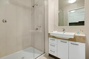 A bathroom at Quest Moorabbin