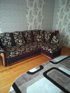 Гостиная зона в Apartment in Vileyka