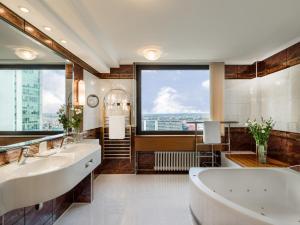 A bathroom at Panorama Hotel Prague
