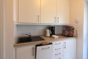 Küche/Küchenzeile in der Unterkunft Ferienwohnungen Reimann