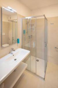 Koupelna v ubytování Hotel Delle Nazioni