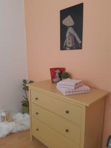 Postel nebo postele na pokoji v ubytování Apartmán Vidče