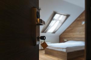 Кровать или кровати в номере Hotel La Confiture